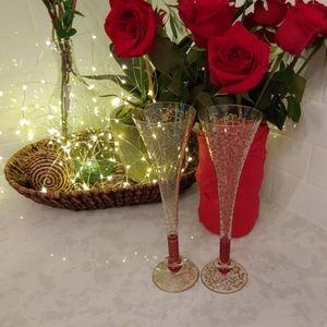 Other - Vintage Italian Murano Venetian Champagne flutes